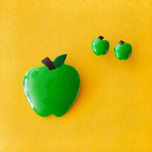 Tutti Frutti Green Apple Brooch