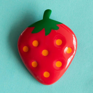 Tutti Frutti Strawberry Brooch