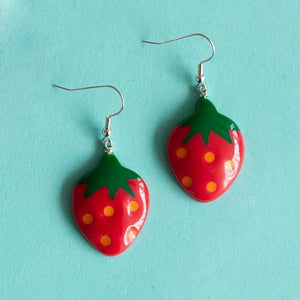Tutti Frutti Strawberry Earrings