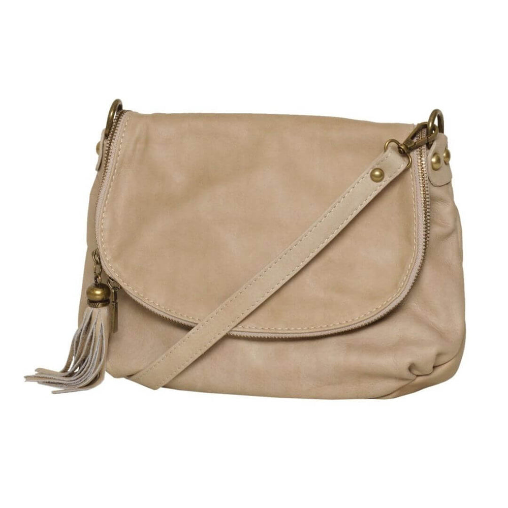Vasarino Leather Bag Beige