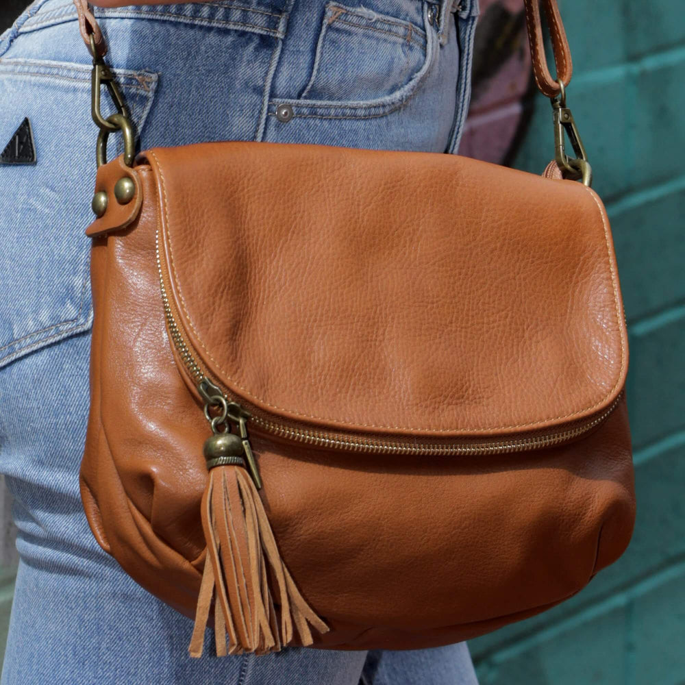 Vasarino Leather Bag Tan