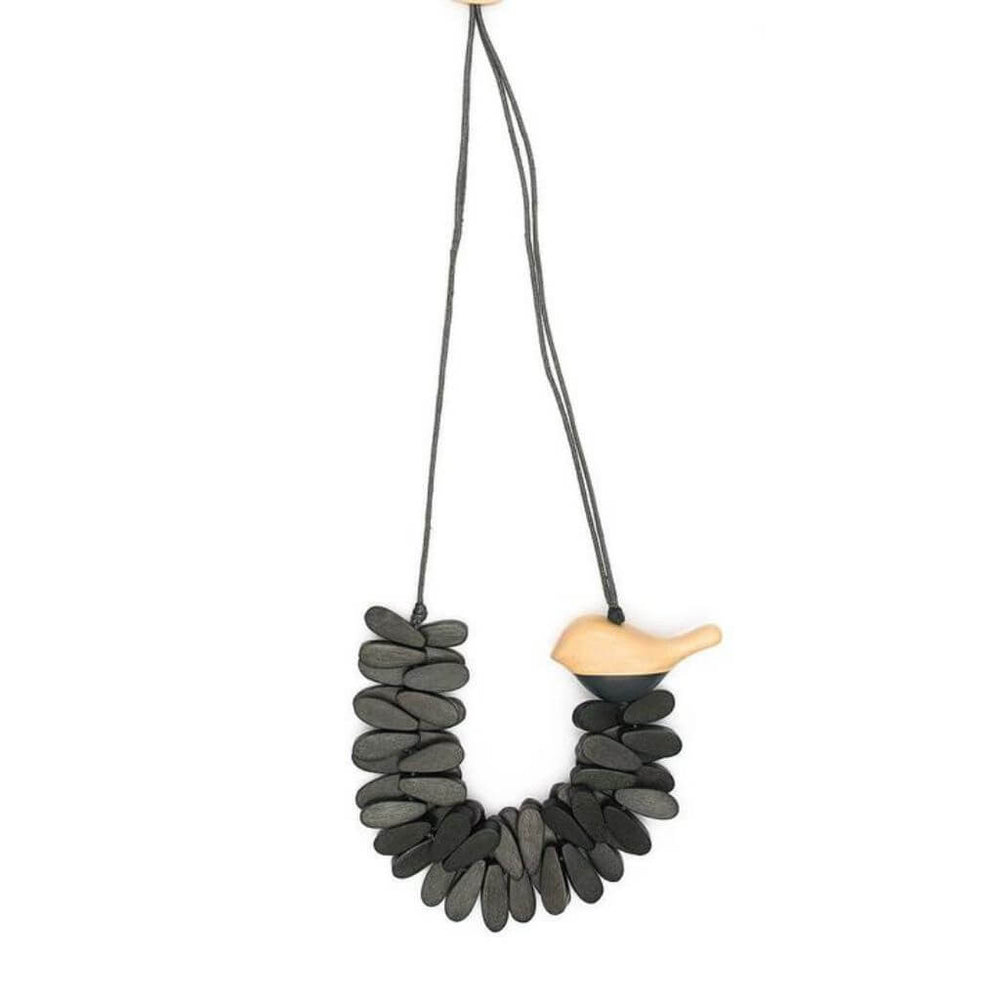 Well-Rounded Birdie Necklace Charcoal