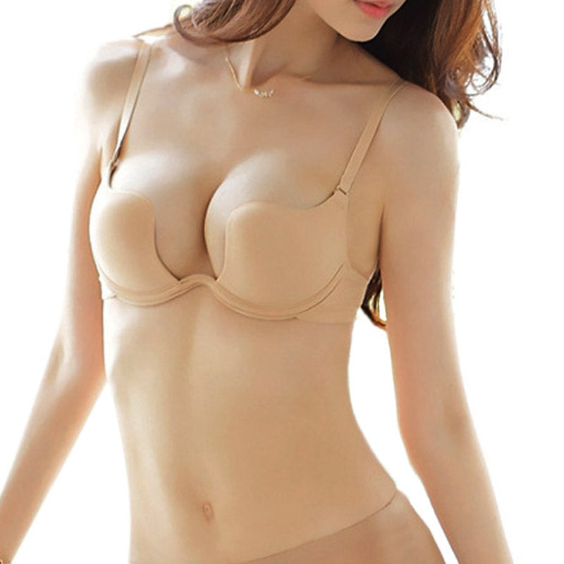 Deep U Plunge Shaped Bra