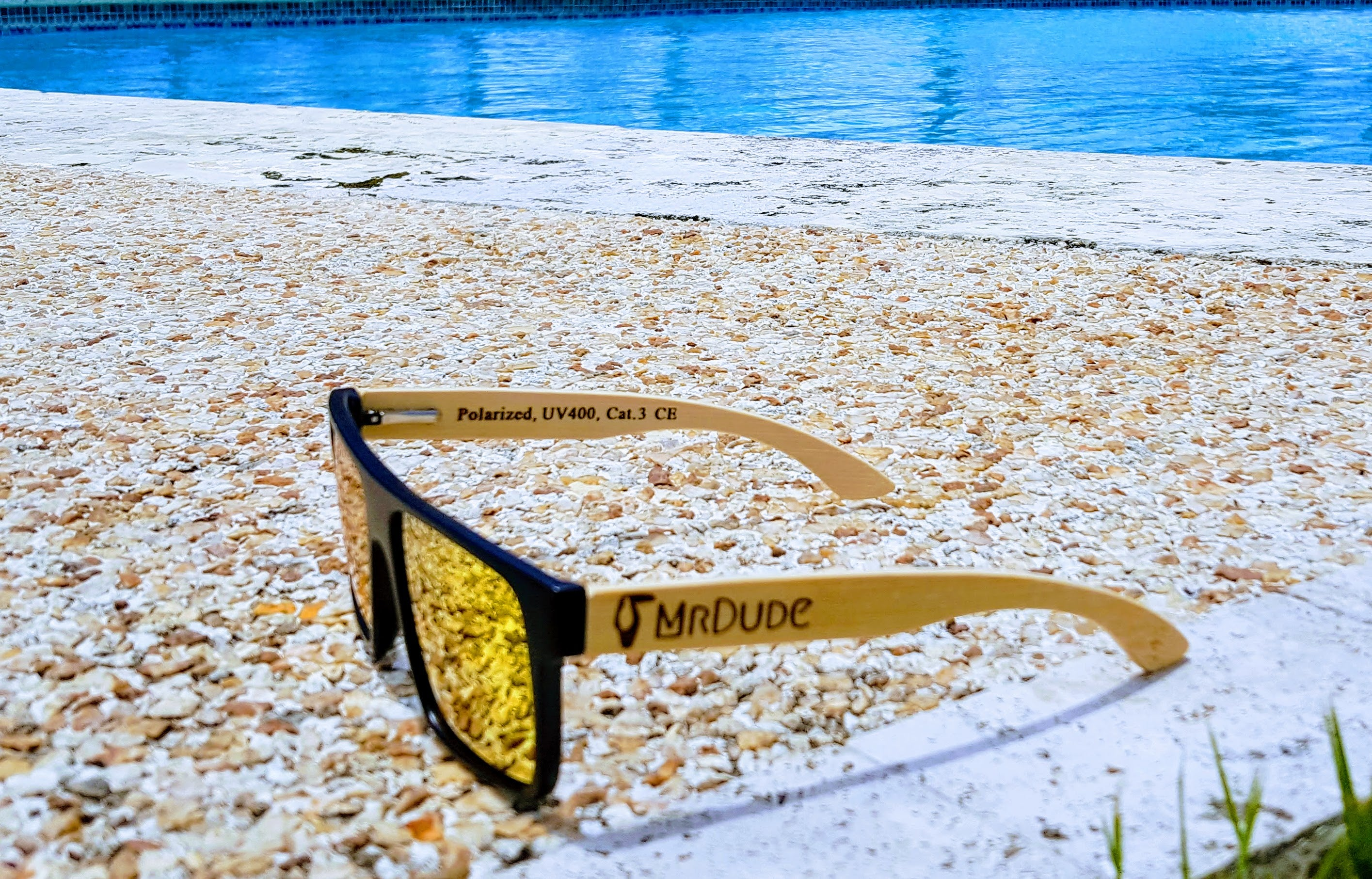 "Orange ""Square"" Polarized Eco-Friendly Sunglasses"