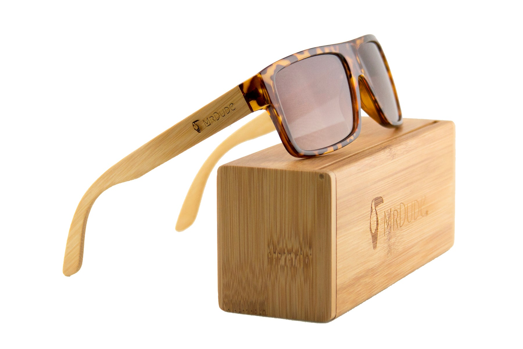 "Tortoise ""Square"" Polarized Eco-Friendly Sunglasses"