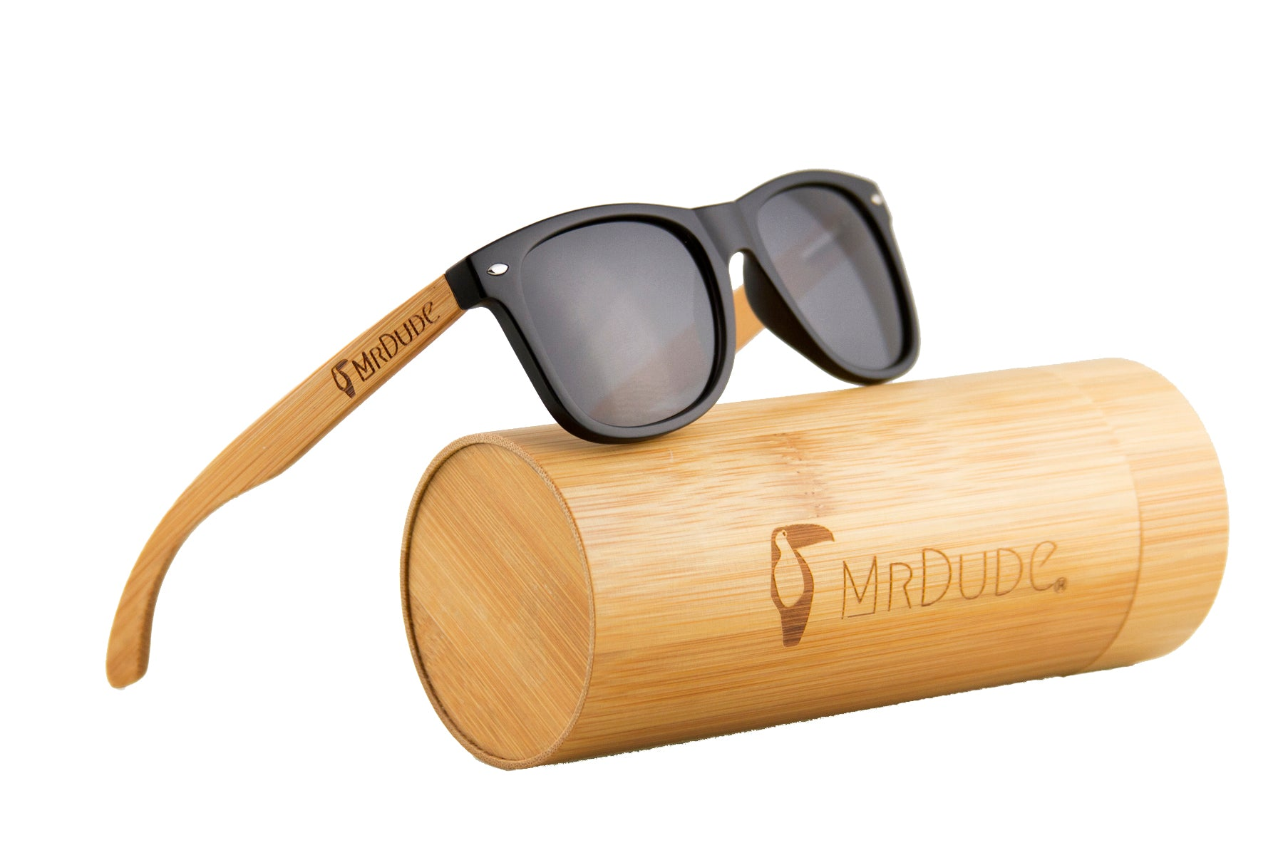 "Black ""Wayfarer"" Polarized Eco-Friendly Sunglasses"