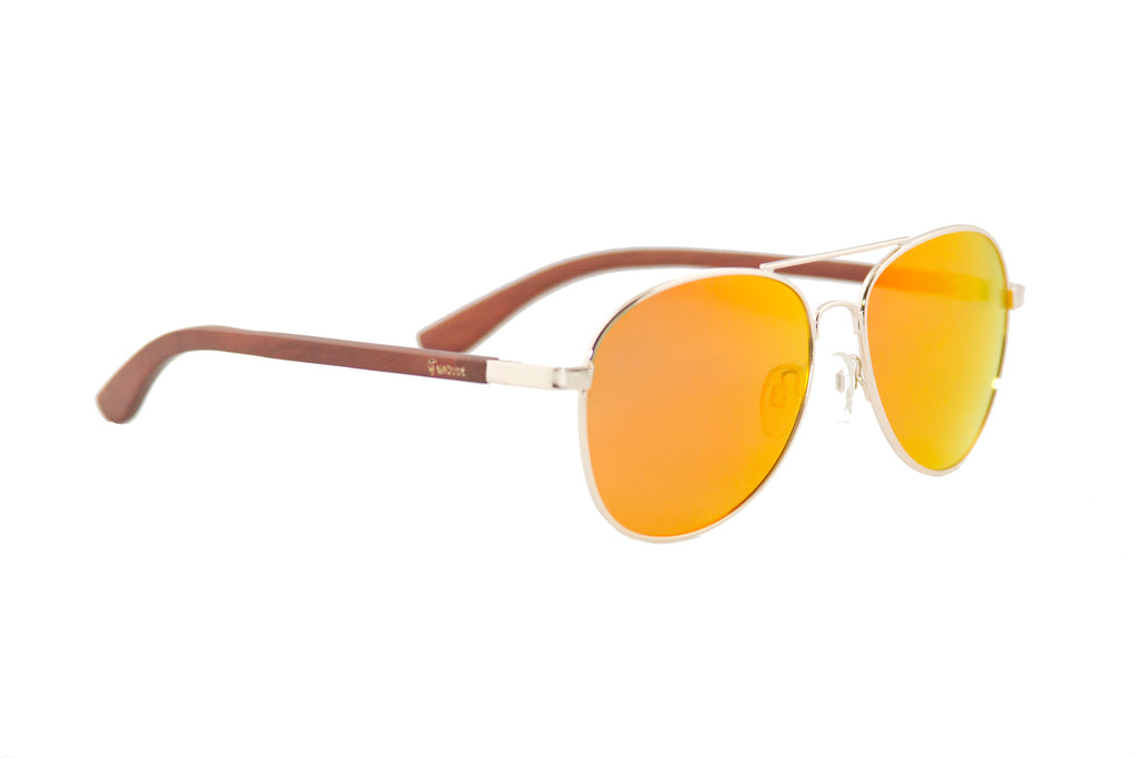 "Orange ""Aviator"" Polarized Sunglasses"
