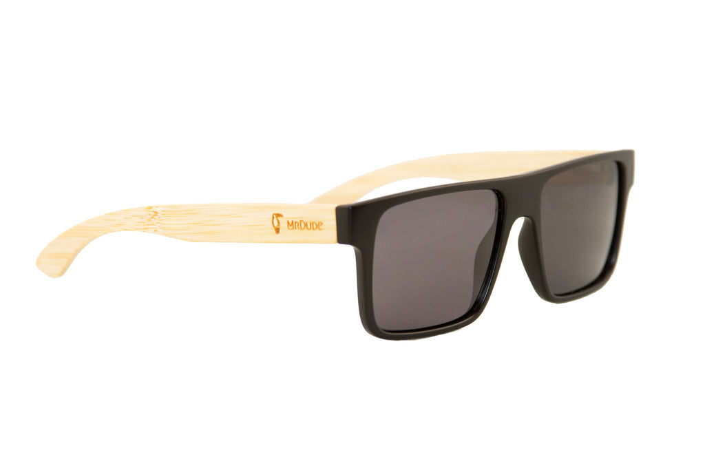 "Black ""Square"" Polarized Eco-Friendly Sunglasses"