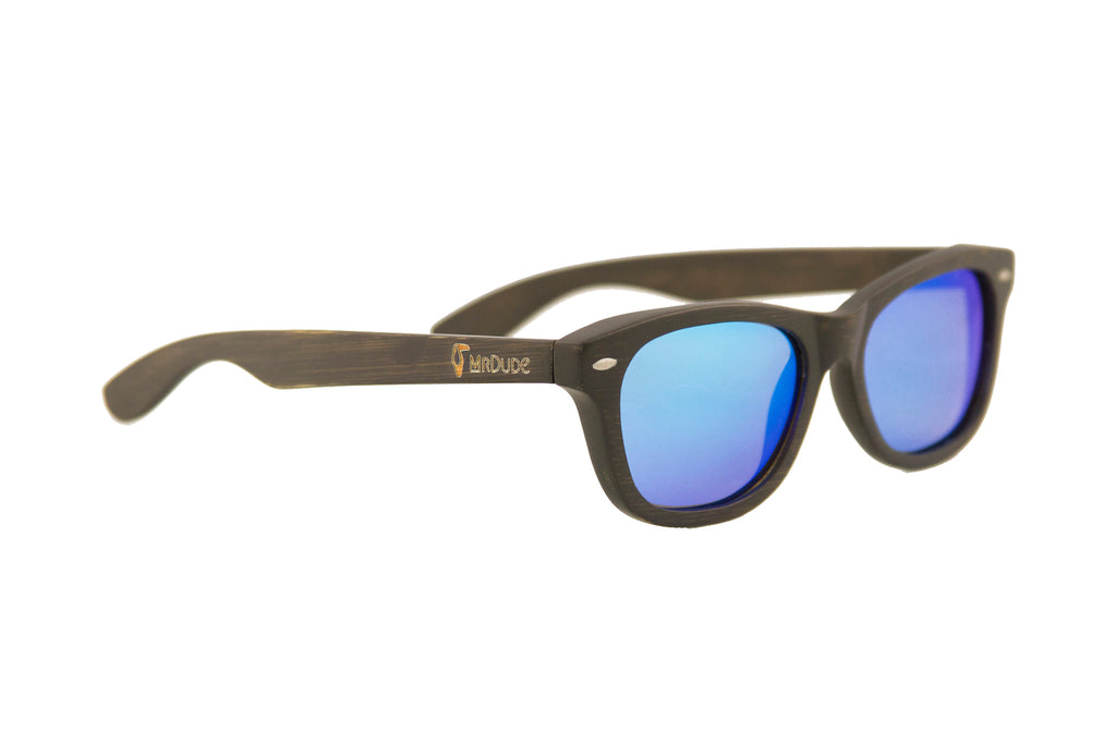 "Blue ""Adventure"" Polarized Bamboo Sunglasses"