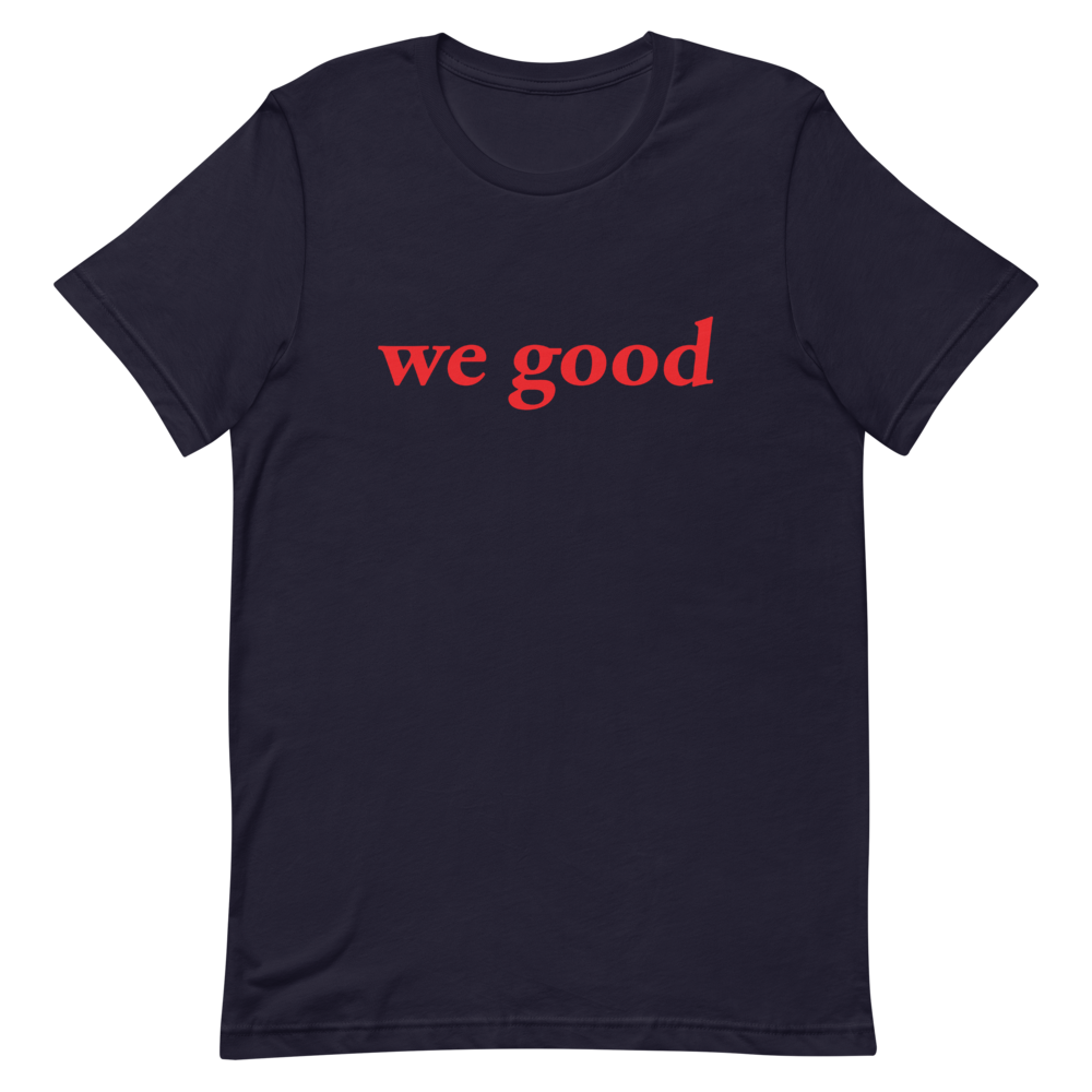 we good tee (navy)