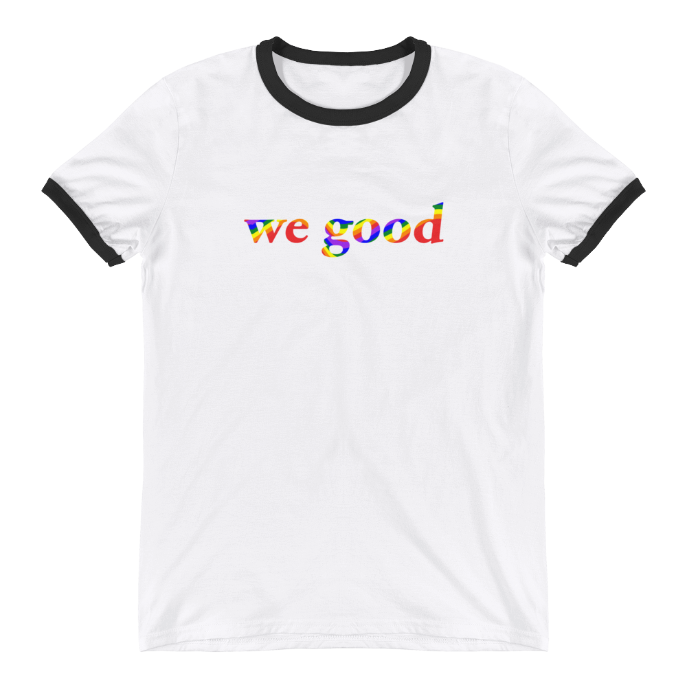 rainbow we good tee
