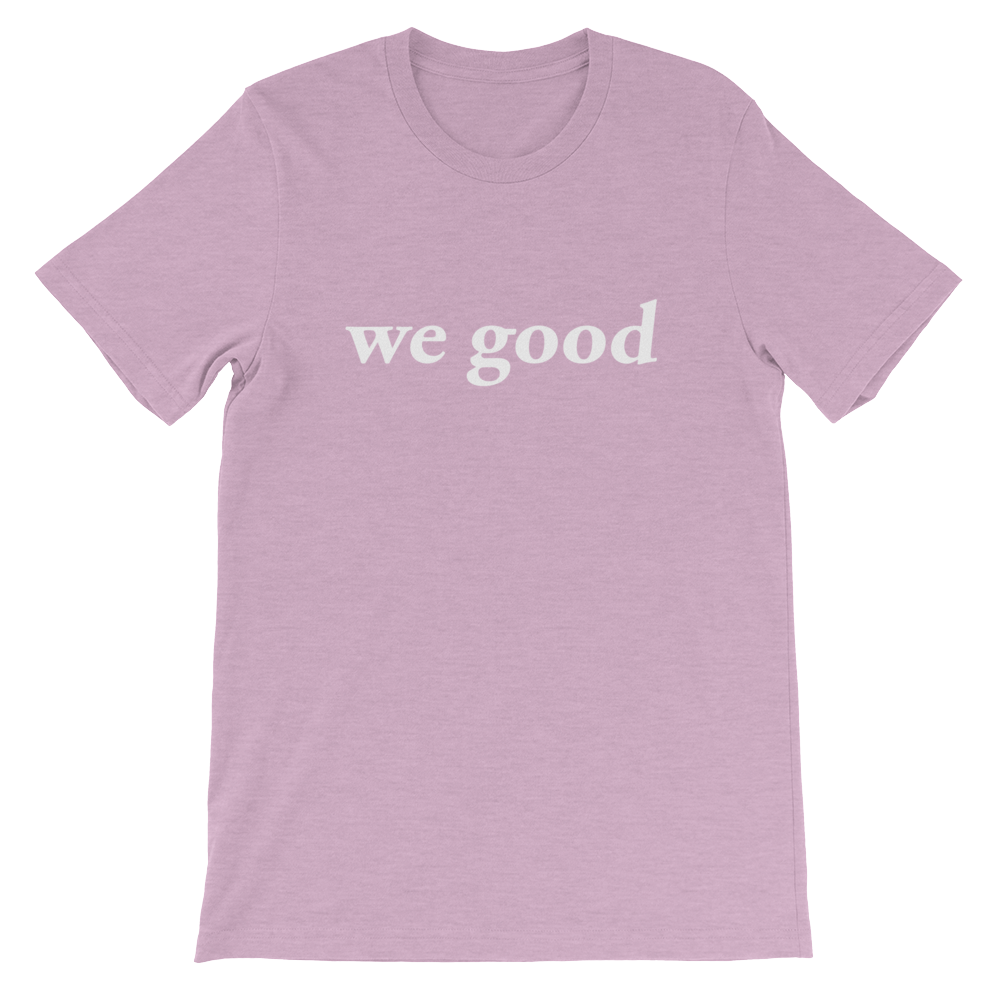 we good tee (heather prism lilac)