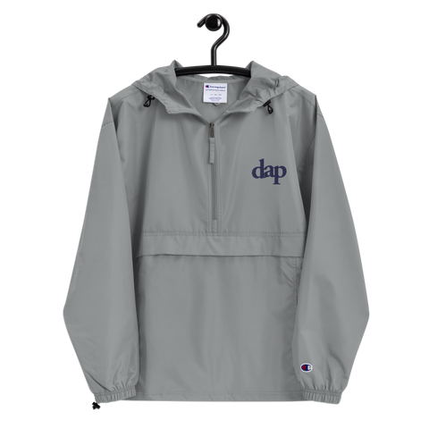 dap embroidered champion packable jacket