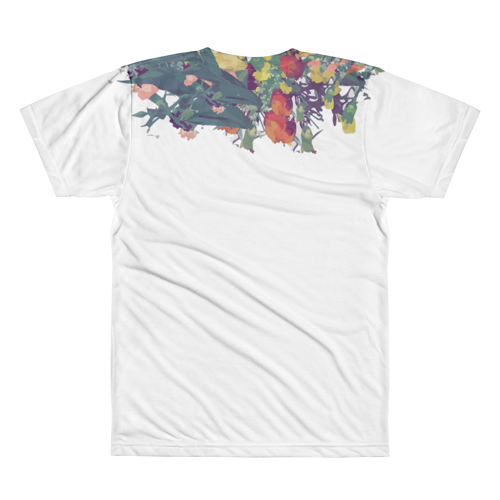 dapper floral collar tee