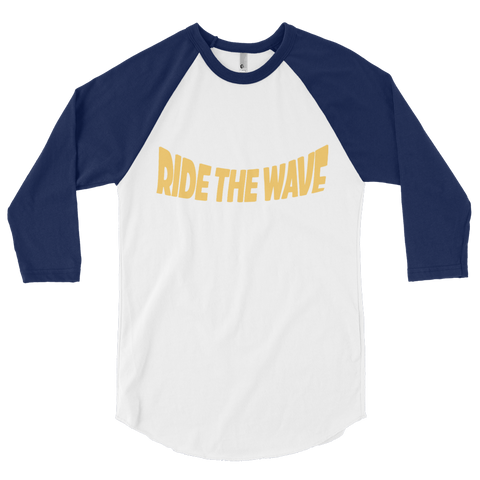 3/4 sleeve ride the wave shirt (blue)
