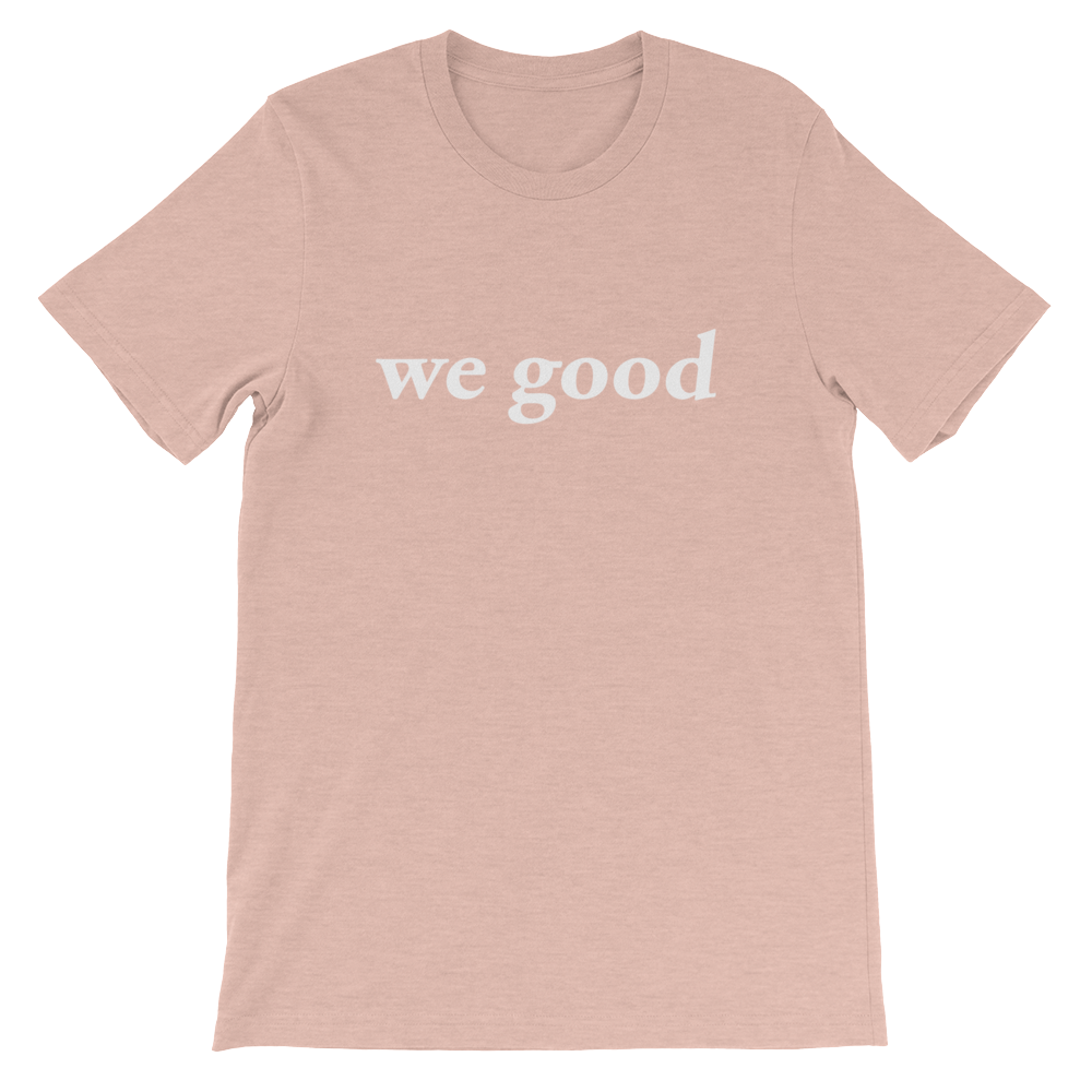 we good tee (heather prism peach)