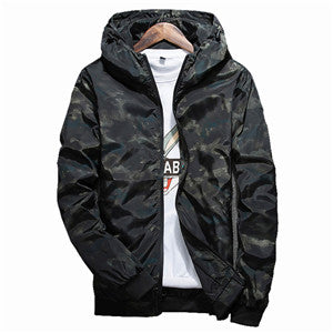 """Faded Night"" Mens Hooded Jacket"