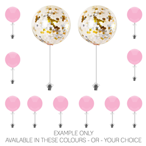 Event Package 3 - 2 x Big Confetti Balloons & 10 x Table Balloons