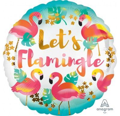 Let's Flamingle Foil - 18 inch