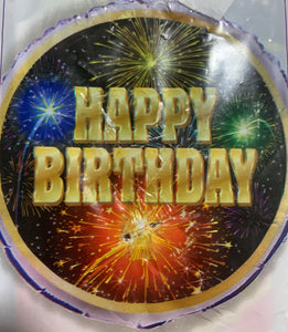 Happy Birthday Foil - Fireworks