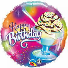 Happy Birthday Foil - Ice Cream