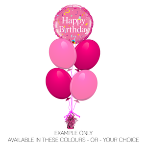 "Happy Birthday 18"" Foil Pink"