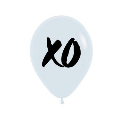 "XO White print  11"" Latex Balloon"