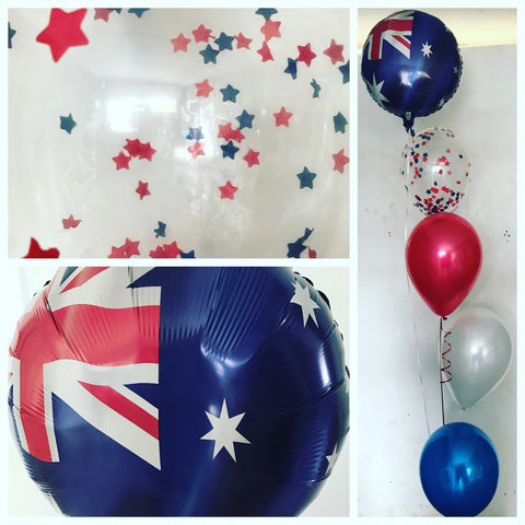 Australia Day 5 Balloon Arrangement