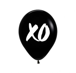 "XO Black print  11"" Latex Balloon"