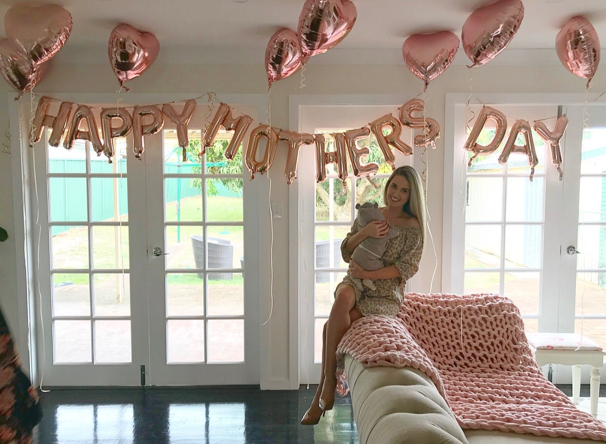 "Happy Mothers Day 16"" Foil Letters"