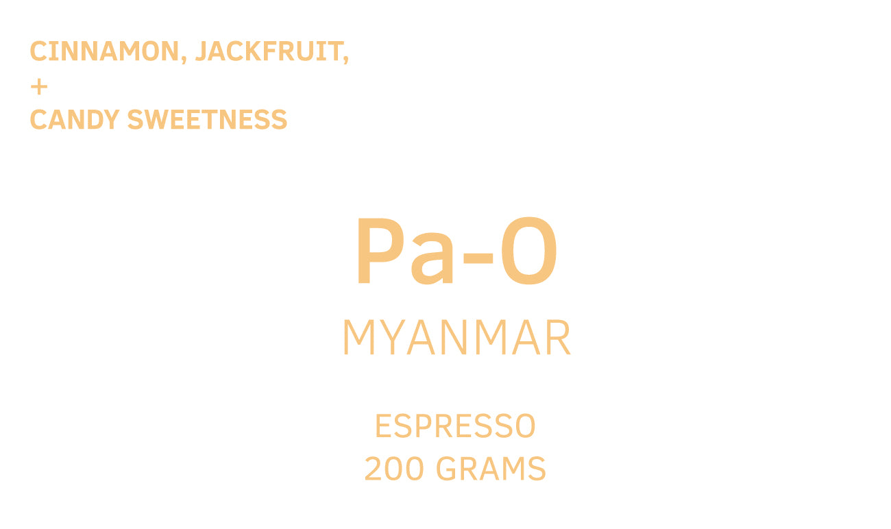 Pa-O, Myanmar, Anaerobic Dried Natural, Espresso