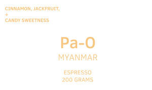 Myanmar, Anaerobic Dried Natural, Espresso Discounted