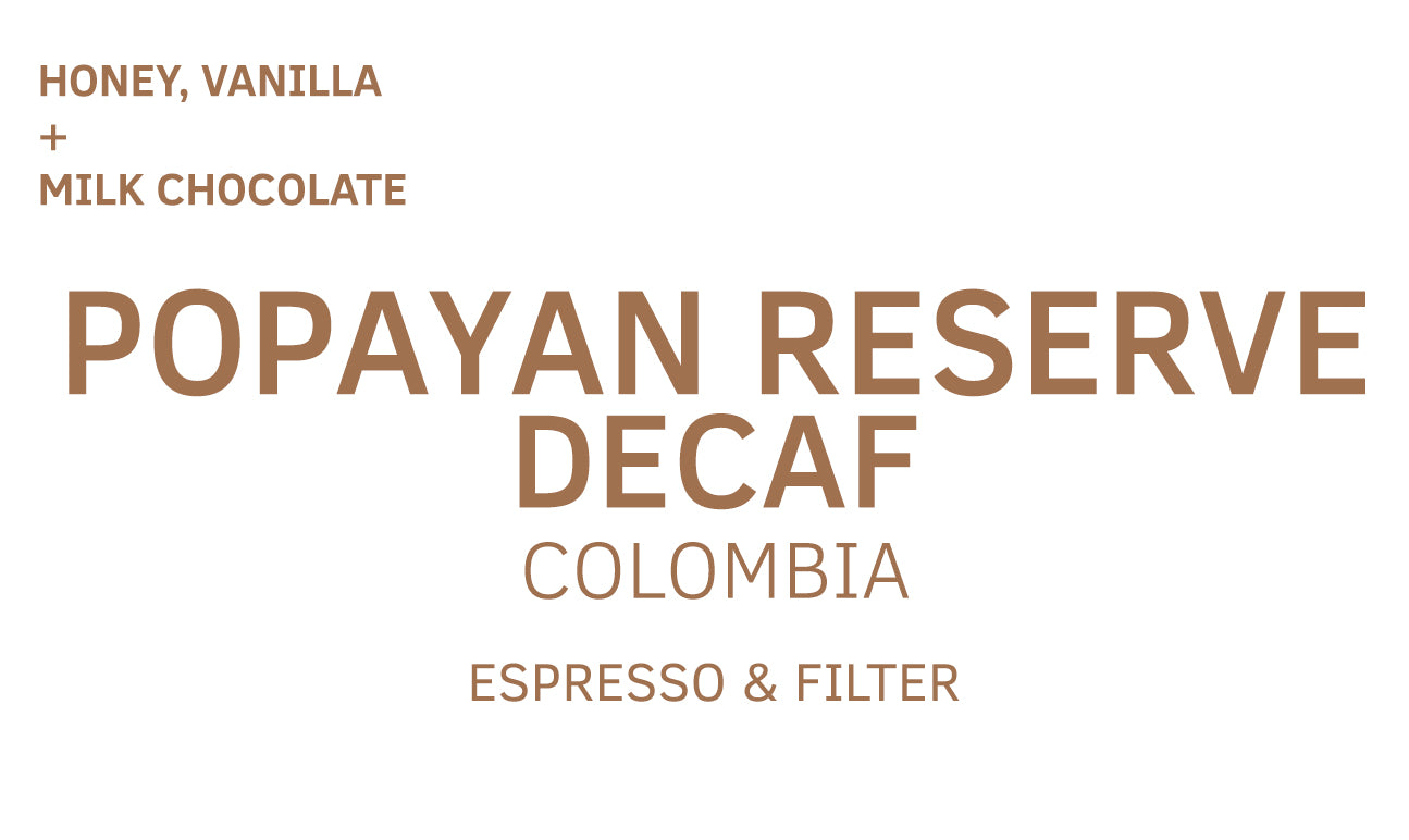 Popayan Reserve, Colombia, Decaf