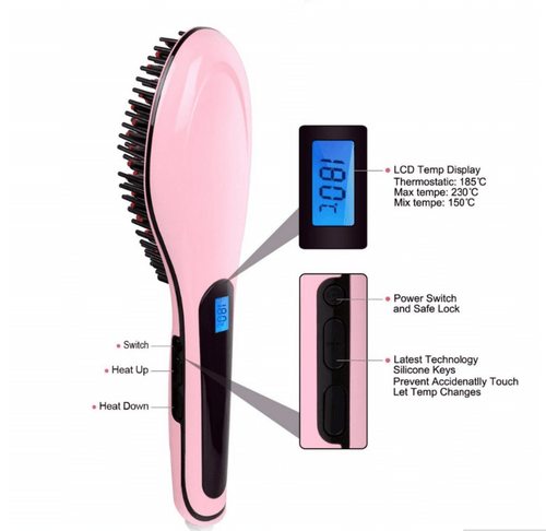 ELECTRIC HAIR STRAIGHTENING BRUSH (75% OFF TODAY)