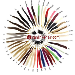 Color Ring with 43 Sample Human Hair Color Chart for Human Hair Extension - VANLINKE HUMAN HAIR EXTENSIONS