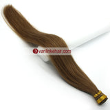 16-20Inches 100s Keratin Stick I Tip Human Hair Extensions Straight Light Brown(12#) - VANLINKE HUMAN HAIR EXTENSIONS