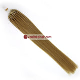 16-22inches 50s 1g/s Easy Loop Double Micro Ring Beads Tip Remy Human Hair Extensions Straight Blonde (24#) - VANLINKE HUMAN HAIR EXTENSIONS