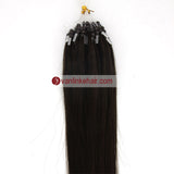 16-22inches 50s 1g/s Easy Loop Double Micro Ring Beads Tip Remy Human Hair Extensions Straight Dark Brown(2#) - VANLINKE HUMAN HAIR EXTENSIONS