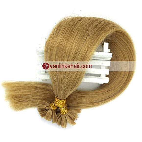 16-22Inches 50s 1g/s Pre Bonded Nail U Tip Remy Human Hair Extensions Straight Blonde(24#) - VANLINKE HUMAN HAIR EXTENSIONS