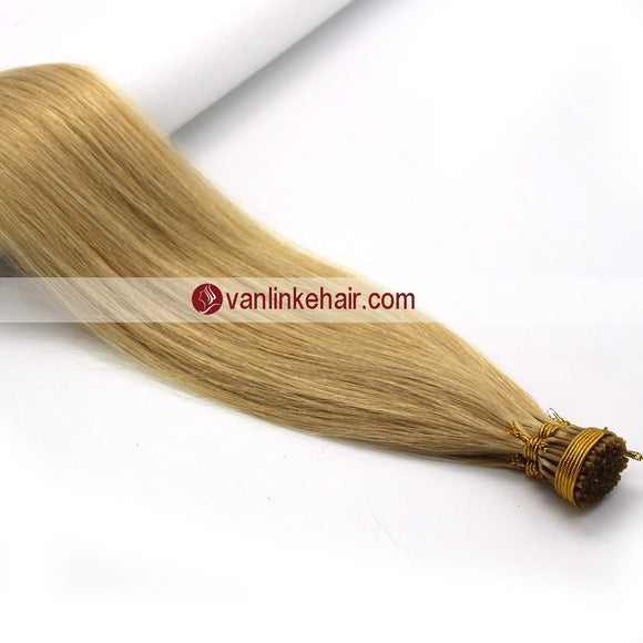 16-24Inches 100s Keratin Stick I Tip Human Hair Extensions Straight Blonde(24#) - VANLINKE HUMAN HAIR EXTENSIONS
