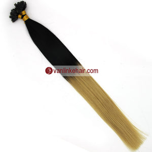 16-22Inches 50s 1g/s Pre Bonded Nail U Tip Remy Human Hair Extensions Straight T1/613# - VANLINKE HUMAN HAIR EXTENSIONS