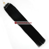 16-22inches 50s 1g/s Easy Loop Double Micro Ring Beads Tip Remy Human Hair Extensions Straight Jet Black(1#) - VANLINKE HUMAN HAIR EXTENSIONS