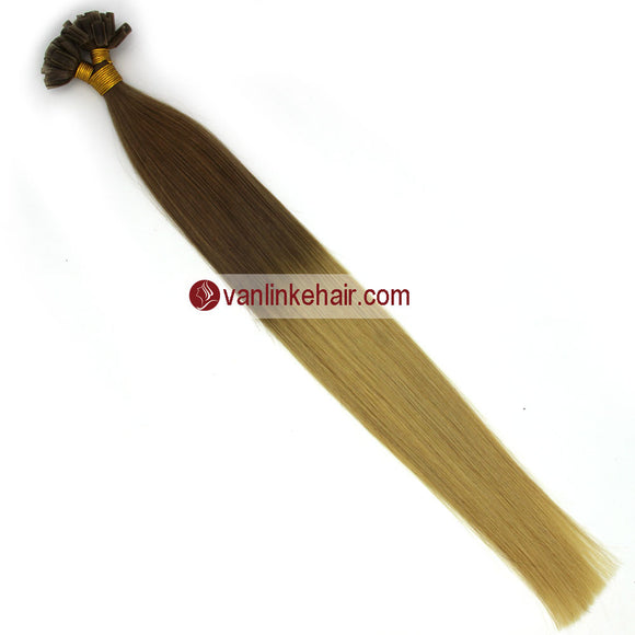 16-22Inches 50s 1g/s Pre Bonded Nail U Tip Remy Human Hair Extensions Straight T12/613# - VANLINKE HUMAN HAIR EXTENSIONS