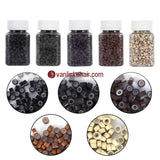 1000pcs Aluminium Silicone Micro Ring Beads for Hair Extensions Feather Hair - VANLINKE HUMAN HAIR EXTENSIONS