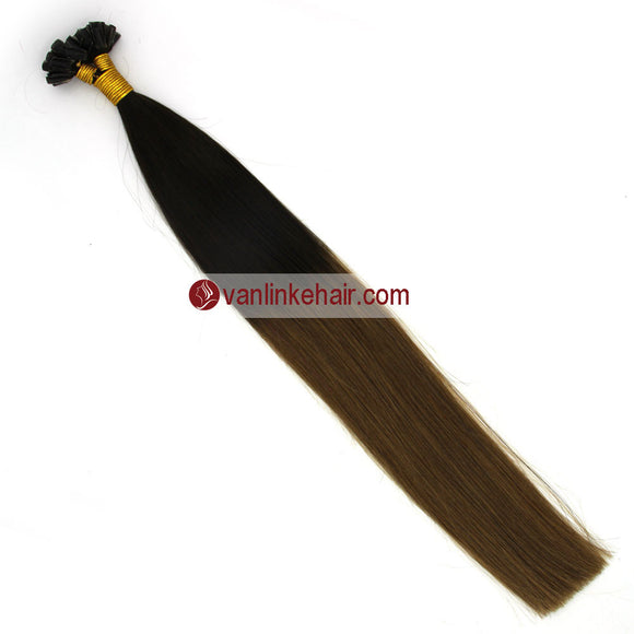 16-22Inches 50s 1g/s Pre Bonded Nail U Tip Remy Human Hair Extensions Straight T2/12# - VANLINKE HUMAN HAIR EXTENSIONS