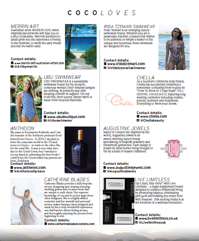 UBU Swimwear in House of Coco Magazine - Feb 2019