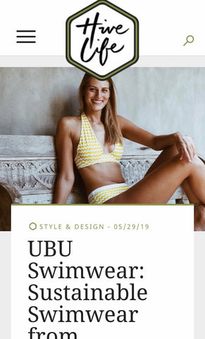 UBU Swimwear in The Hive Life - May 2019