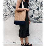 Nature Lover's Cork Tote (Blue) - UBU Swimwear