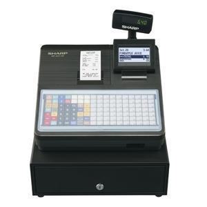 Sharp XEA217B Cash Register with Flat Keyboard Black - Easypos Point of Sale Systems