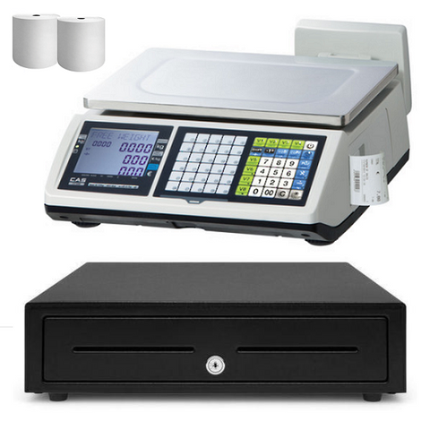 Retail POS Scale CAS CT-100 Receipt Printing for Butchers, Fruit Shop & Farmers Markets - EasyPOS